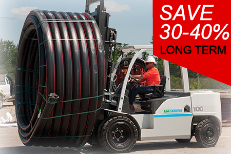 Save on a high capacity forklift