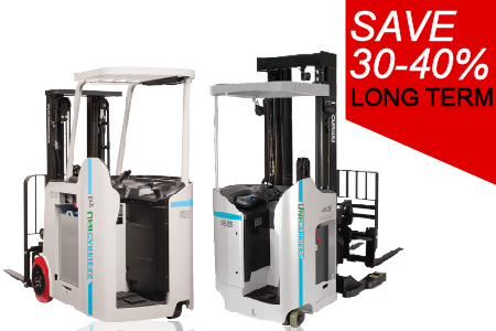 Unicarriers Stand Up Forklifts for Rent